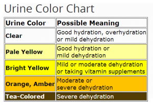 Urine Color Chart For Dehydration Ehealthstar